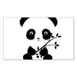 Black and White Panda Bear Sticker