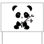 Black and White Panda Bear Yard Sign