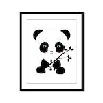 Black and White Panda Bear Framed Panel Print