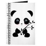Black and White Panda Bear Journal