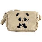 Black and White Panda Bear Messenger Bag