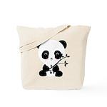 Black and White Panda Bear Tote Bag