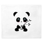 Black and White Panda Bear King Duvet