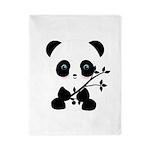 Black and White Panda Bear Twin Duvet