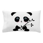 Black and White Panda Bear Pillow Case