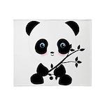 Black and White Panda Bear Throw Blanket
