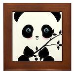 Black and White Panda Bear Framed Tile