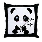 Black and White Panda Bear Throw Pillow