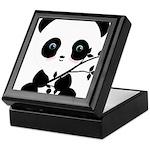 Black and White Panda Bear Keepsake Box