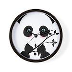 Black and White Panda Bear Wall Clock