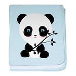 Black and White Panda Bear baby blanket
