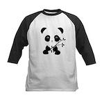 Black and White Panda Bear Baseball Jersey