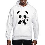 Black and White Panda Bear Hoodie