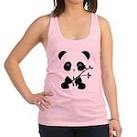 Black and White Panda Bear Racerback Tank Top