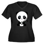 Black and White Panda Bear Plus Size T-Shirt