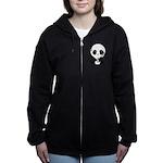 Black and White Panda Bear Women's Zip Hoodie