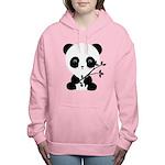 Black and White Panda Bear Women's Hooded Sweatshi