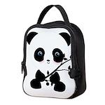 Black and White Panda Bear Neoprene Lunch Bag