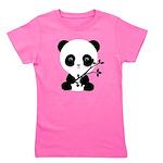 Black and White Panda Bear Girl's Tee