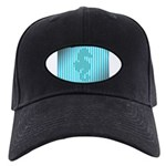 Seahorse on Aged Teal Stripes Baseball Hat