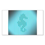 Seahorse on Aged Teal Stripes Sticker