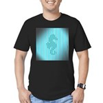 Seahorse on Aged Teal Stripes T-Shirt