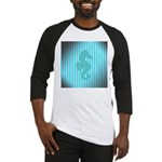Seahorse on Aged Teal Stripes Baseball Jersey