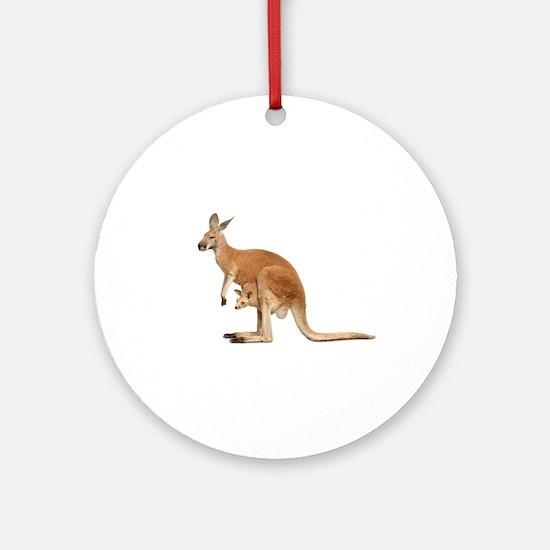 kangaroo Ornament (Round)