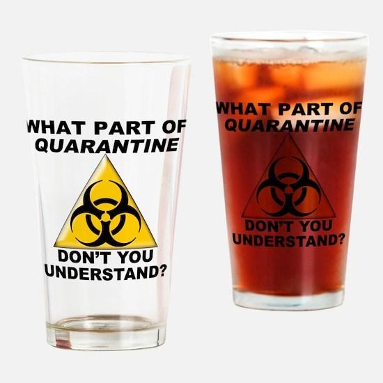 Quarantine Drinking Glass