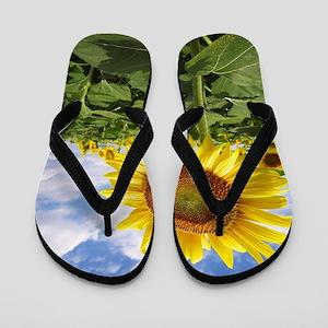 Sunflower Garden Flip Flops