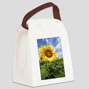 Sunflower Garden Canvas Lunch Bag