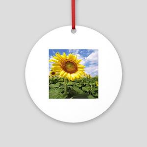 Sunflower Garden Ornament (Round)