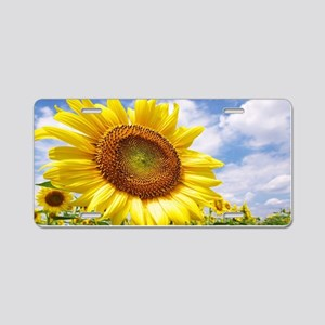 Sunflower Garden Aluminum License Plate