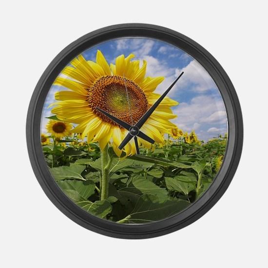 Sunflower Garden Large Wall Clock