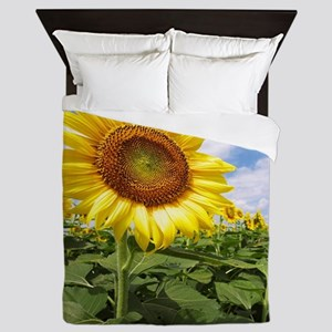 Sunflower Garden Queen Duvet