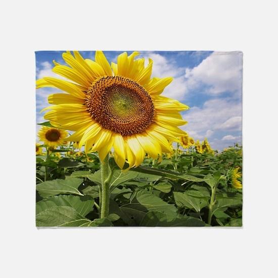 Sunflower Garden Throw Blanket