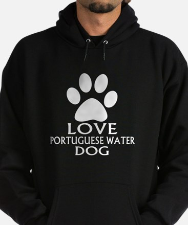 Love Portuguese Water Dog Dog Hoodie (dark)