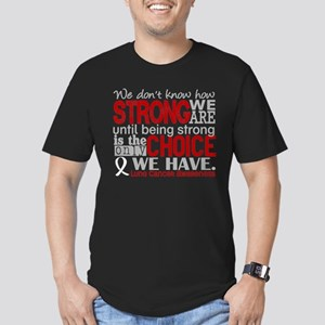 Lung Cancer HowStrongW Men's Fitted T-Shirt (dark)