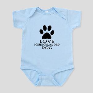 Love Polish Lowland Sheepdog D Baby Light Bodysuit