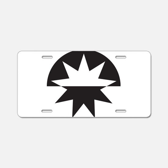 Art Deco Star Sunburst Aluminum License Plate