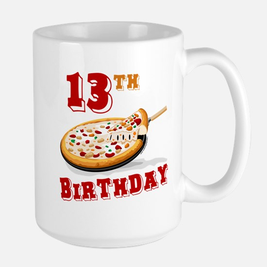13th Birthday Pizza party Mugs