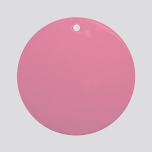 Salmon Pink Solid Color Ornament (Round)