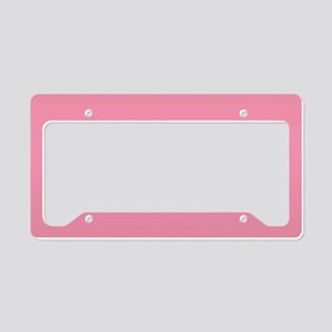 Salmon Pink Solid Color License Plate Holder