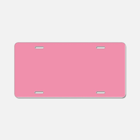 Salmon Pink Solid Color Aluminum License Plate
