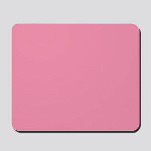 Salmon Pink Solid Color Mousepad