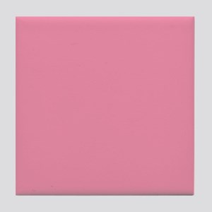 Salmon Pink Solid Color Tile Coaster