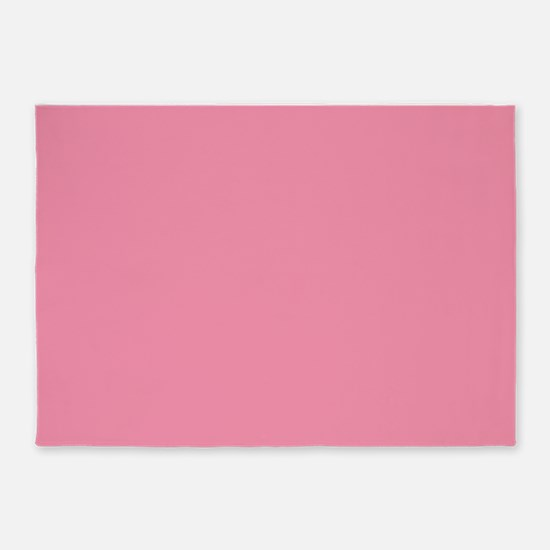 Salmon Pink Solid Color 5'x7'Area Rug