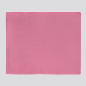 Salmon Pink Solid Color Throw Blanket