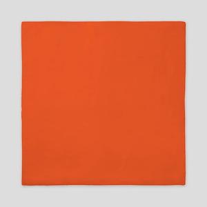 Persimmon Orange Solid Color Queen Duvet