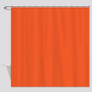 Persimmon Orange Solid Color Shower Curtain